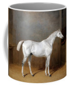 A Favourite Grey Horse Belonging To George Reed Standing In A Loose Box Coffee Mug