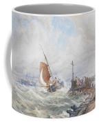 A Fishing Smack Entering Harbour Coffee Mug