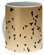A Flight Of Grackles Circling The Moon Coffee Mug
