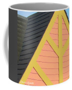 A-frame In Pastel Pink And Harvest Gold Yellow Coffee Mug