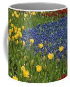 A Garden Of Colorful Tulips And Grape Coffee Mug