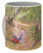 A Garland Of Flowers Coffee Mug by Frigyes Friedrich Miess