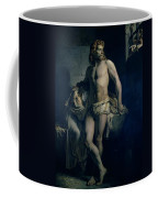 A Gaul And His Daughter Imprisoned In Rome Coffee Mug by Felix-Joseph Barrias