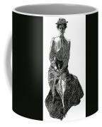 A Gibson Girl With Parasol Coffee Mug