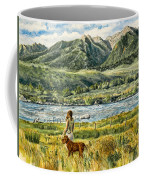 A Girl And Her Dog Coffee Mug