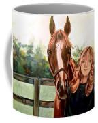 Wide Eyed Girl And Her Horse Coffee Mug