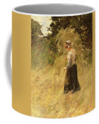 A Girl Harvesting Hay Coffee Mug