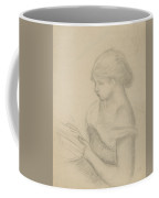 A Girl Reading  Coffee Mug by Auguste Renoir