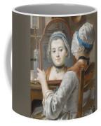 A Girl Wearing A Bonnet Coffee Mug