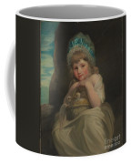 A Girl With A Basket Of Birds Coffee Mug