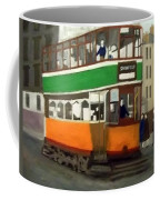 A Glasgow Tram With Figures And Tenement Coffee Mug