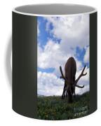 A Grazing Bull Elk Up Close Coffee Mug
