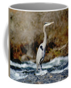 A Great Blue Heron At The Spokane River 2 Coffee Mug