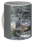 A Great Blue Heron At The Spokane River 3 Coffee Mug