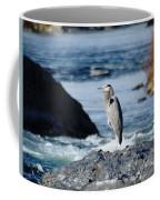 A Great Blue Heron At The Spokane River Coffee Mug