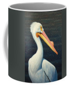 A Great White American Pelican Coffee Mug by James W Johnson