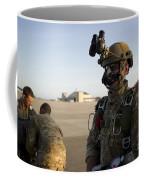 A Green Beret Waits To Have His Gear Coffee Mug