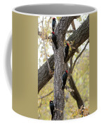 A Group Of Acorn Woodpeckers In A Tree Coffee Mug
