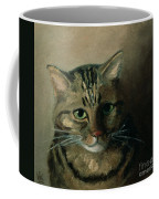 A Head Study Of A Tabby Cat Coffee Mug
