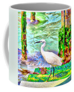 a heron is walking on a stair about the Grand Canal Coffee Mug