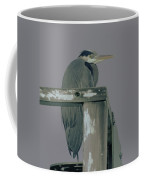 A Heron On Watch  Coffee Mug
