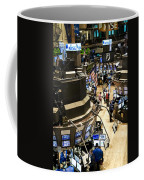 A High Angle View Of The New York Stock Coffee Mug by Justin Guariglia