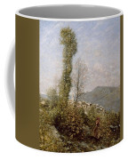 A Hillside Village In Provence Henry Herbert La Thangue Coffee Mug