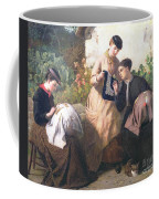 A Honiton Lace Manufactory Coffee Mug by Frederick Richard Pickersgill