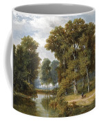 A Hunter And An Angler In A Wooded Landscape Coffee Mug