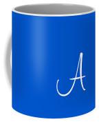 A In White Simple Script Coffee Mug