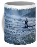 A Kayaker Takes On White Water Rapids Coffee Mug
