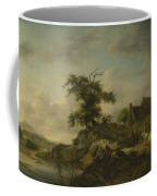 A Landscape With A Farm On The Bank Of A River Coffee Mug
