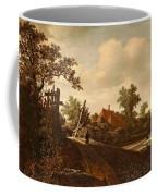A Landscape With A Figure On A Path And A Bleaching Coffee Mug