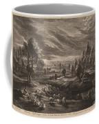 A Landscape With A Village Coffee Mug