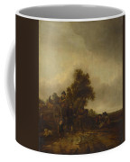 A Landscape With Peasants And A Cart Coffee Mug