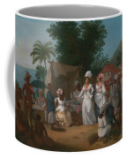 A Linen Market With A Linen-stall And Vegetable Seller In The West Indies Coffee Mug