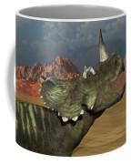 A Lone Centrosaurus Dinosaur Calling Coffee Mug