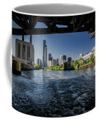 A Look At The Chicago Skyline From Under The Roosevelt Road Bridge  Coffee Mug