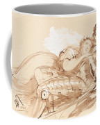 A Maiden Embraced By A Knight In Armor Coffee Mug