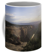 A Man Admires The Sunset From A Canyon Coffee Mug