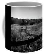 A Man And His Dog - Square Coffee Mug