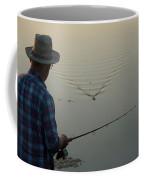 A Man Fishes For Largemouth Bass Coffee Mug