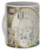 A Map Of The North Pole Coffee Mug by John Seller