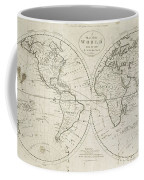 A Map Of The World From The Best Authorities Coffee Mug