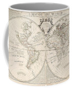 A Map Of The World Coffee Mug by John Senex