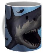 A Megalodon Shark From The Cenozoic Era Coffee Mug