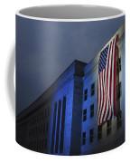A Memorial Flag Is Illuminated On The Coffee Mug