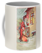 A Merry Christmas Vintage Greetings From Santa Claus And His Gifts Coffee Mug