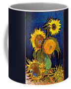 A Modern Look At Vincent's Vase With 5 Sunflowers Coffee Mug
