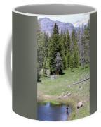 A Moose In The Rockies Coffee Mug